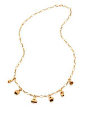 Ileana Makri Bells Small Pendant Necklace In Gold