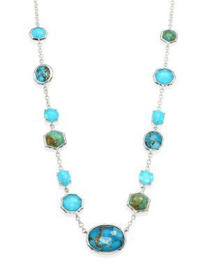 Ippolita 925 Rock Candy Turquoise & Amethyst Station Necklace