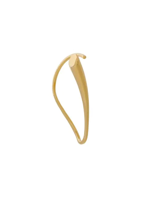 Charlotte Chesnais Calla Single Ear Cuff In Metallic