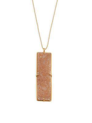 Chan Luu Agate Pendant Necklace In Natural