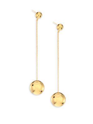 Paula Mendoza Viv Drop Earrings In Gold