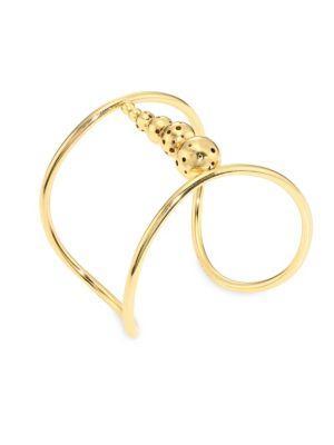 Paula Mendoza Gracht Cuff Bracelet In Gold