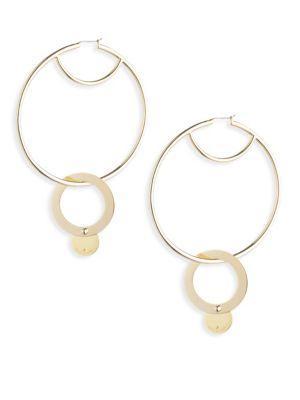 """Eddie Borgo Nubia Hoop Earrings/2.75"""" In Gold"""