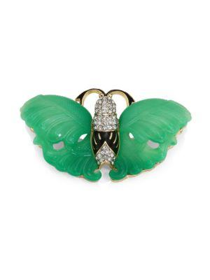 Kenneth Jay Lane Jade Wing Butterfly Pin