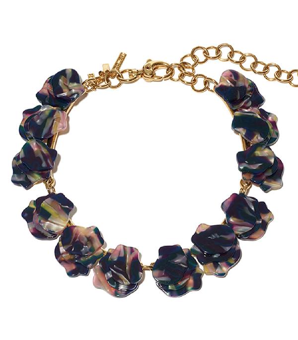 Lele Sadoughi Concrete Jungle Wisteria Necklace In Twilight