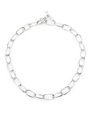 Ippolita Glamazon Sterling Silver Oval Link Toggle Necklace