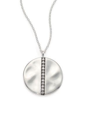 Ippolita Glamazon Stardust Diamond & Sterling Silver Large Disc Pendant Necklace