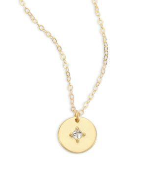 Ila Orion Diamond & 14k Yellow Gold Pendant Necklace