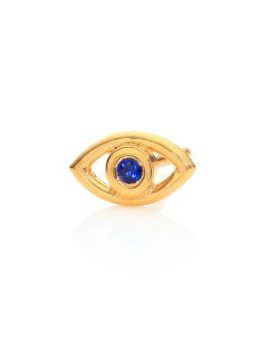 Ileana Makri Mini Eye Crystal Single Stud Earrings In Gold