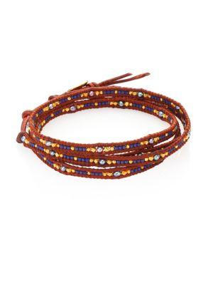Chan Luu Japanese Seed Bead Wrap Bracelet In Brown-multi
