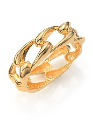 Kenneth Jay Lane Link Bangle Bracelet In Gold