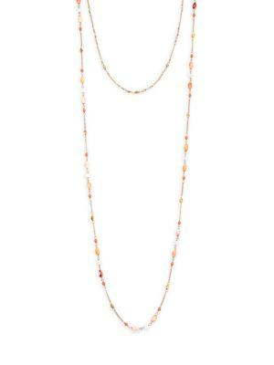 Chan Luu Double Layer Necklace In Light Pink