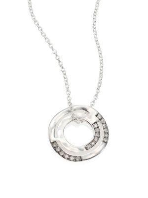 Ippolita Senso™ Staggered Diamond PavÉ & Sterling Silver Disc Pendant Necklace