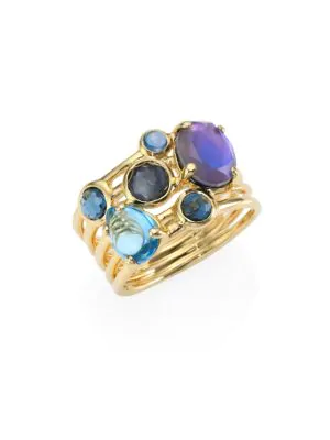 Ippolita Rock Candy® Multi-stone & 18k Yellow Gold Ring In Gold-multi