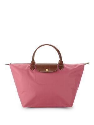 Longchamp Le Pliage Top Handle Bag In Pink