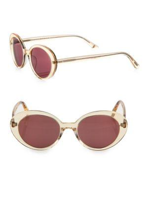 Oliver Peoples Parquet 50mm Oval Sunglasses In Pink