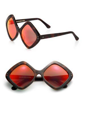 Cutler And Gross 58mm Diamond Sunglasses In Dark Turtle