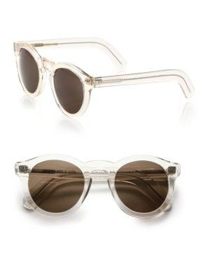 Cutler And Gross 51mm Clear Round Sunglasses