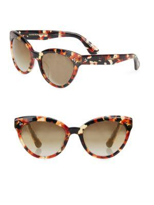 Oliver Peoples Roella 55mm Mirrored Cat Eye Sunglasses In Tortoise