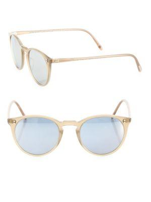 Oliver Peoples The Row For  O'malley Nyc 48mm Round Sunglasses In Beige