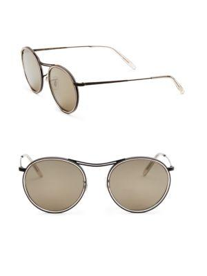 Oliver Peoples 51mm  Round Sunglasses In Grey
