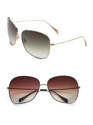 Oliver Peoples Elsie Round Sunglasses In Olive