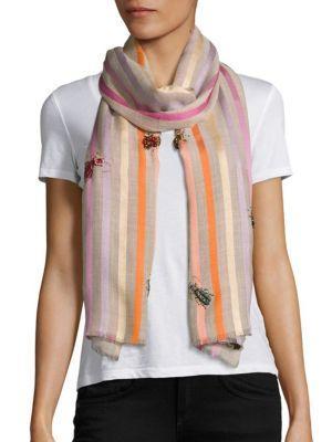 Janavi True Bugs Wool & Silk Scarf In Natural