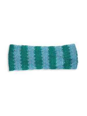 Missoni Colorblock Crochet Headband In Blue