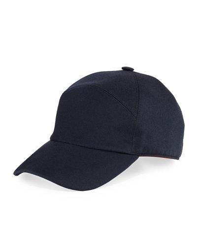 Loro Piana Storm System Cashmere Baseball Hat In Slate