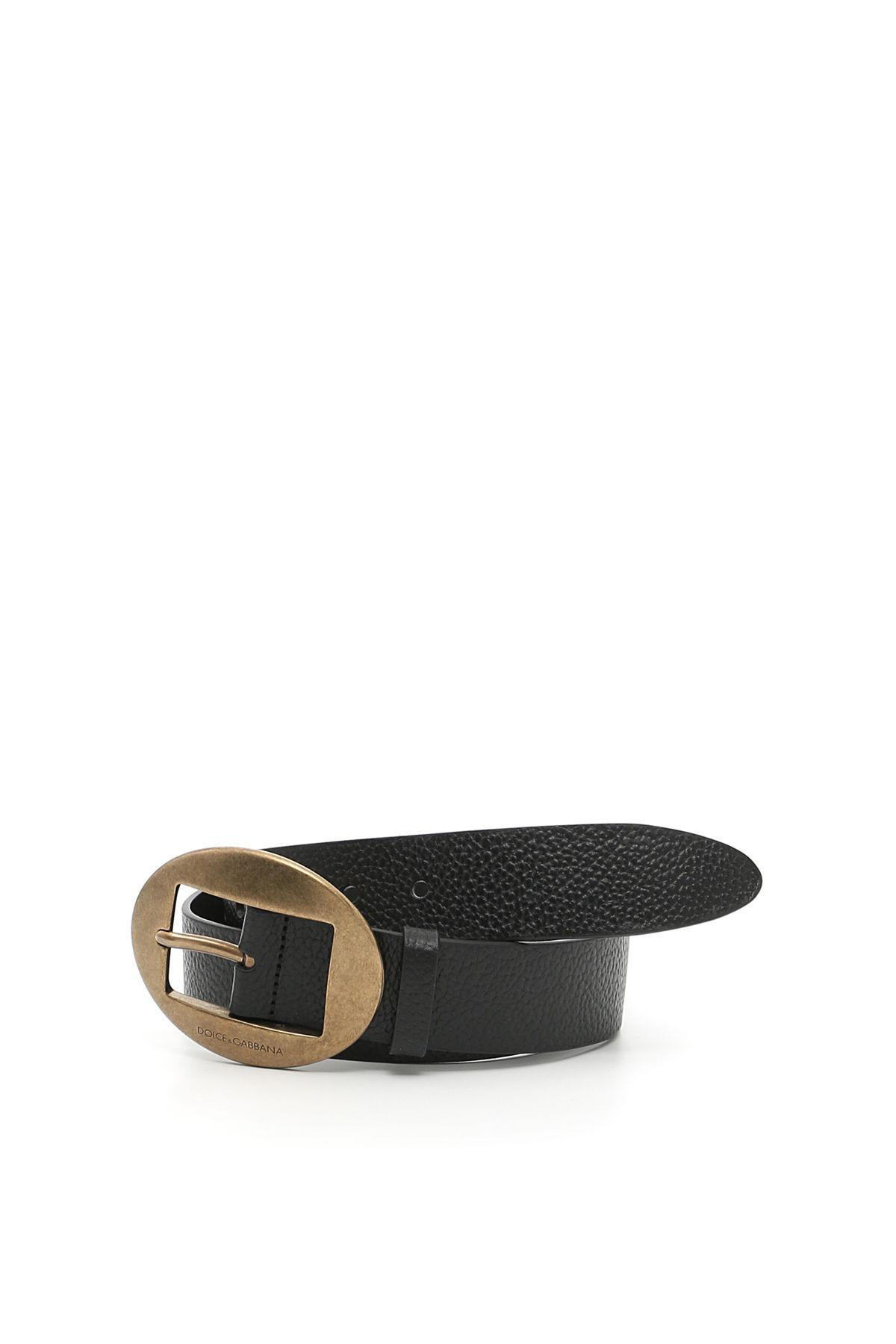 Dolce & Gabbana Leather Belt In Neronero