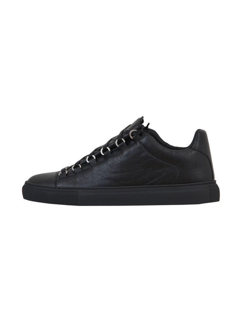 0675161e16be Balenciaga high-top sneaker in textured faux-python embossed leather with  metal rings. 1