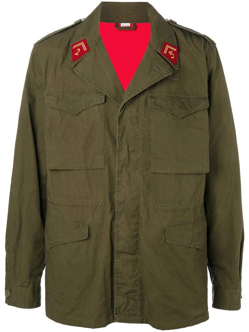 Gucci Army Green Cotton Jacket