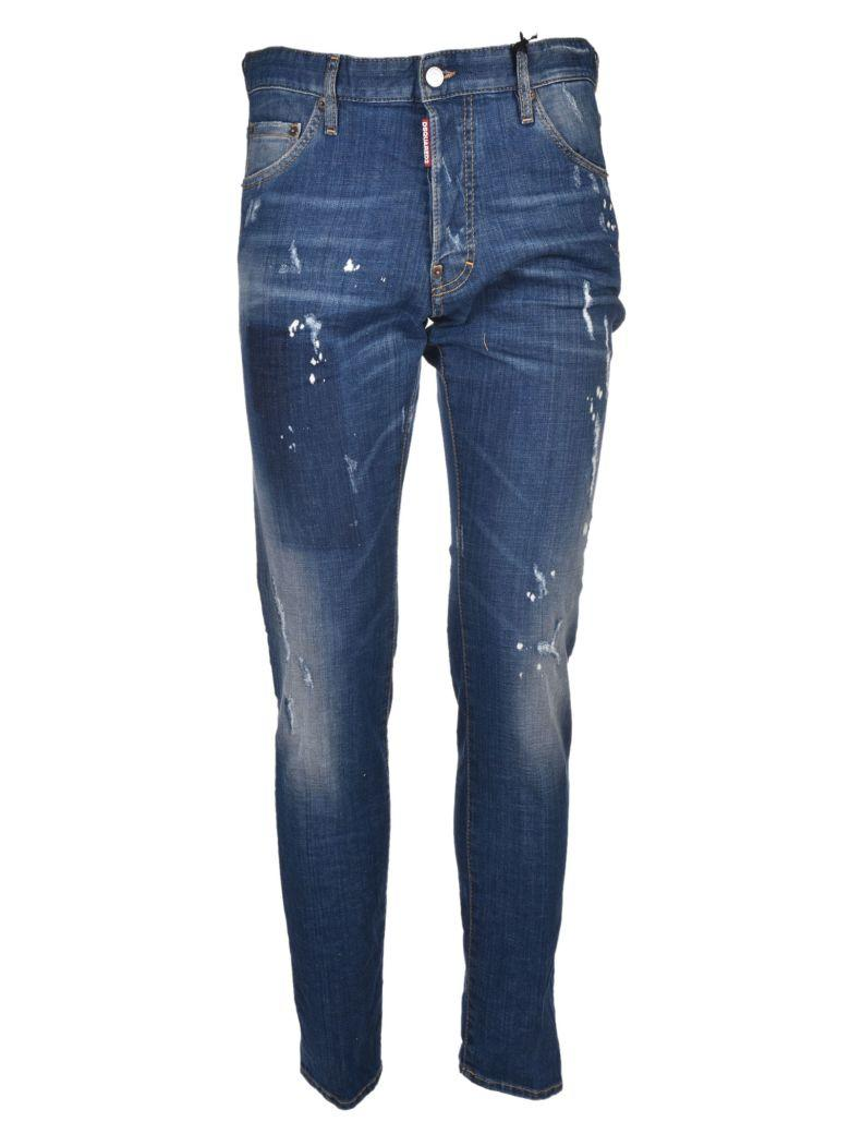 Dsquared2 Distressed Cool Guy Jeans In Blu Medio