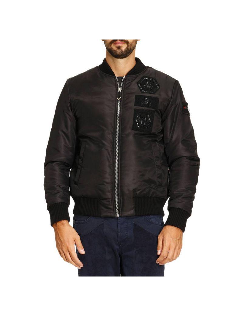 Philipp Plein Stress Bomber Jacket In Black