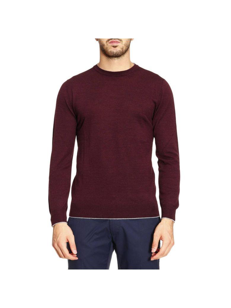 Eleventy Sweater Sweater Men  In Burgundy