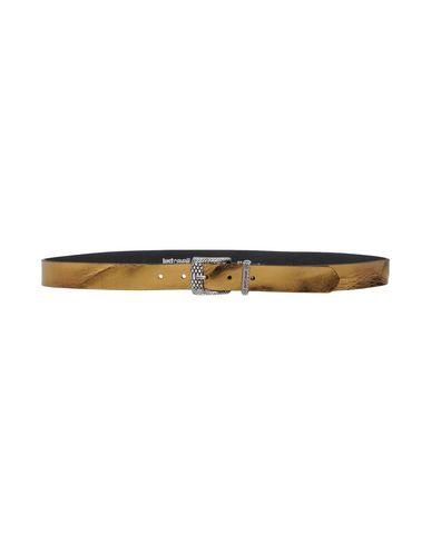 Just Cavalli Leather Belt In Gold