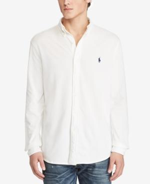 Polo Ralph Lauren Men's Classic Fit Cotton Mesh Shirt, Created For Macy's In White