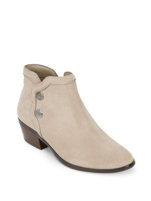 Sam Edelman Pacer Suede Booties In Putty