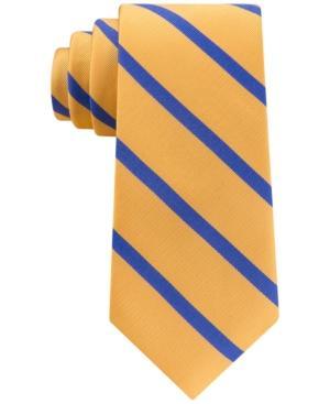 Tommy Hilfiger Men's Ogden Stripe Skinny Tie In Yellow