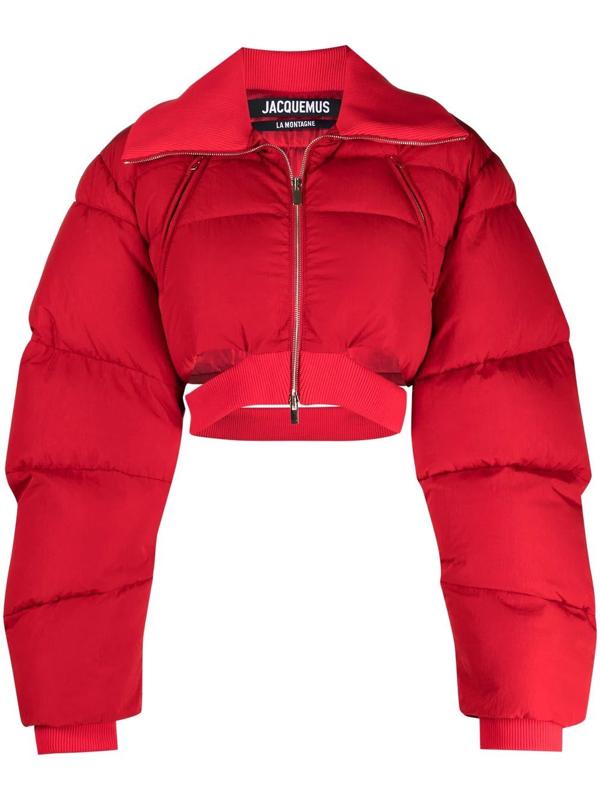 Jacquemus Le Doudoune Pralù Jacket In Red