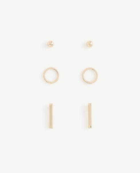 Ann Taylor Pave Stud Earring Set In Gold