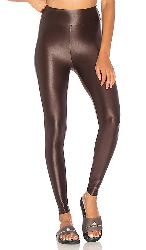 a4e2a4b67c996 Koral Lustrous High Waist Leggings In Chocolate   ModeSens