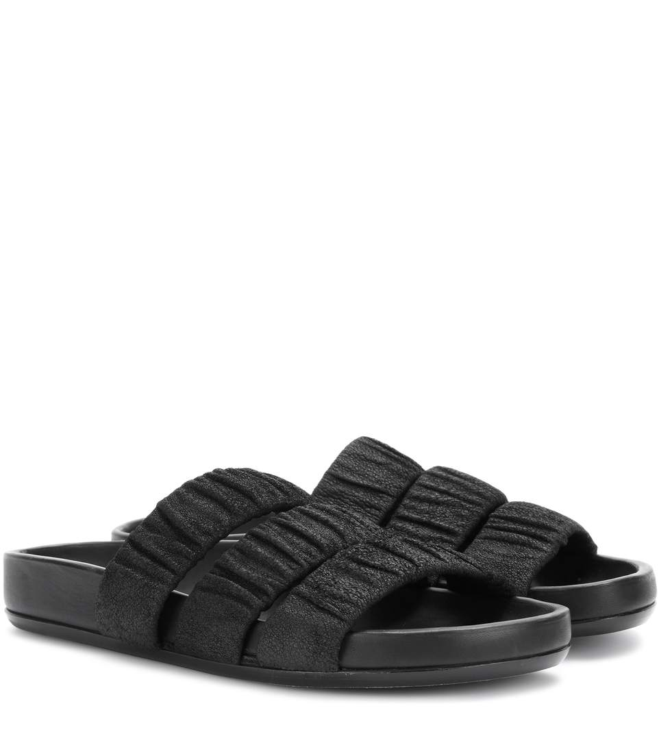 457842194 Rick Owens Women's Elastic Three-Strap Sandals In Black In Llack ...