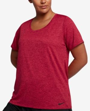 2d6dcaf366be4 Nike Plus Size Dry Legend Training T-Shirt In Team Red Lt Fusion Red ...