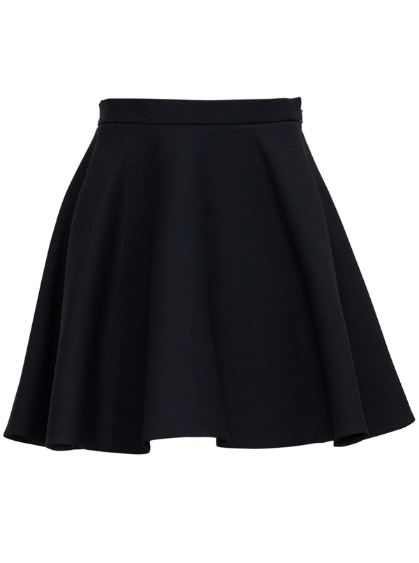 Valentino Crepe Couture Mini Skirt Look23 In Black