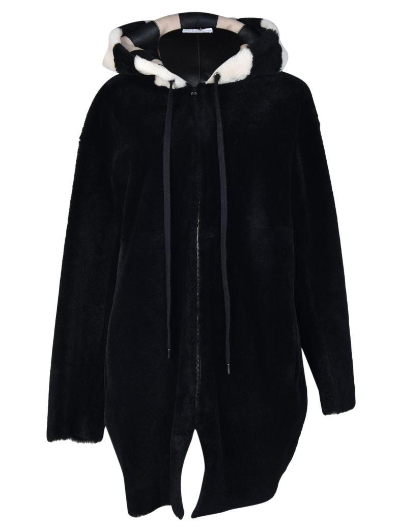 Inès & Maréchal Ines Marechal Fur Hooded Parka In Black