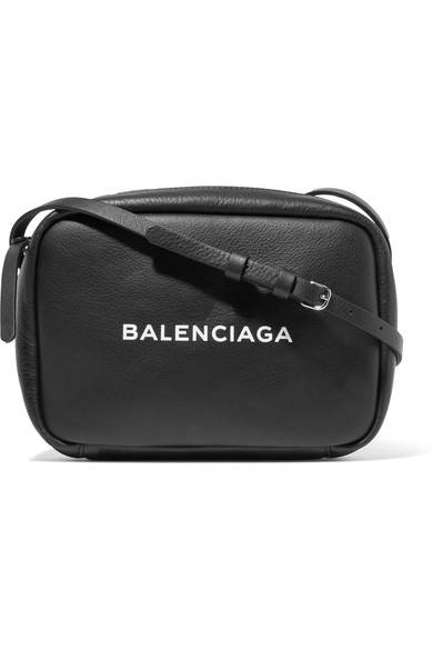 Balenciaga Small Everyday Calfskin Leather Camera Bag - Black
