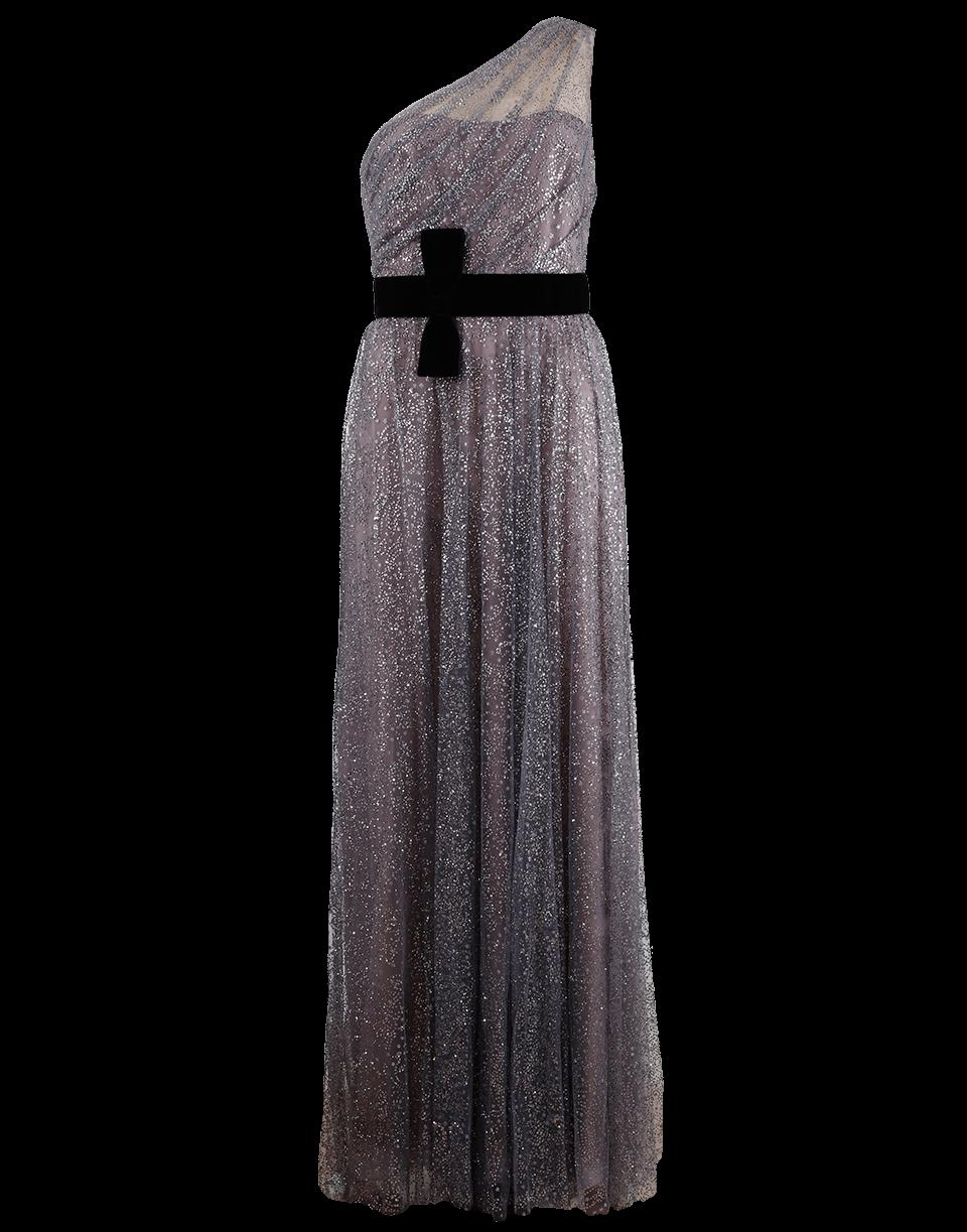 d1930aa04bf9 Marchesa Notte Glitter Tulle Gown In Gunmetal | ModeSens