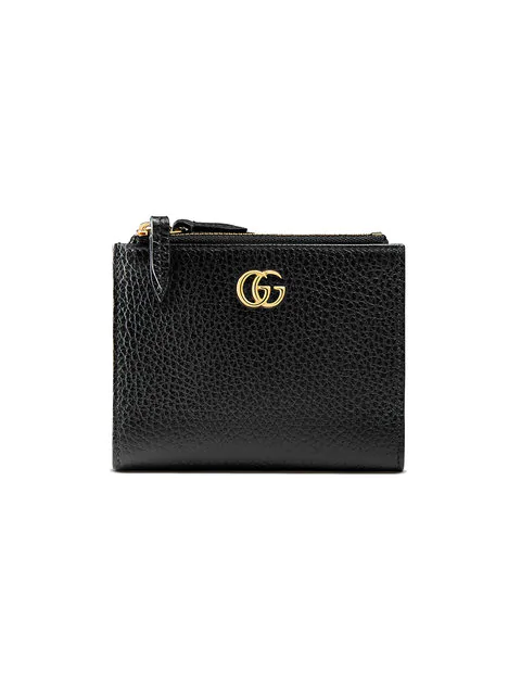 Gucci Gg Marmont Leather Wallet In Black