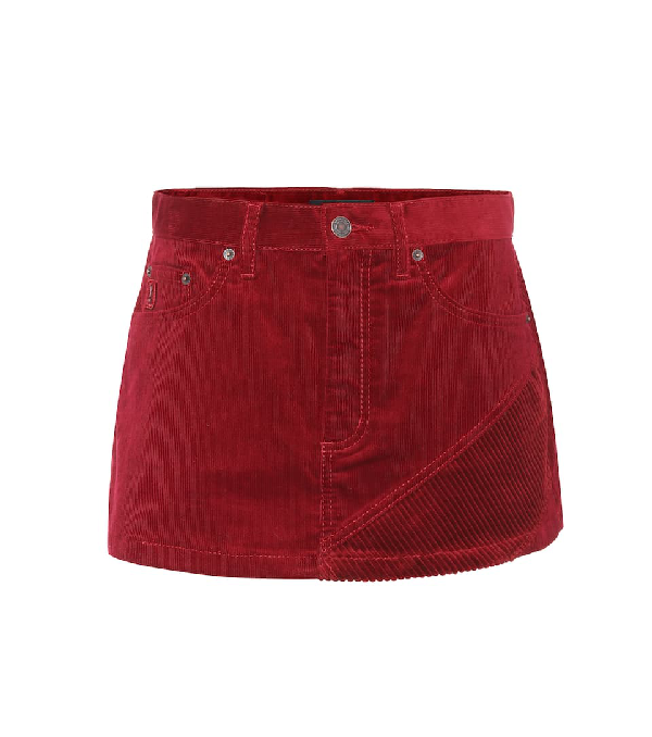 Marc Jacobs Corduroy Mini Skirt In Red
